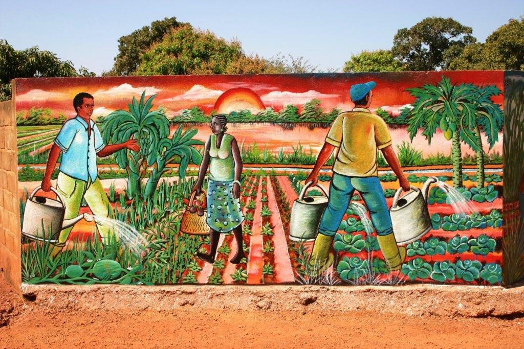 Africa agriculture art